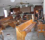 destruction in the family's church